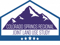 Joint Land Use Logo that says Colorado Springs Regional Joint Land Use Study